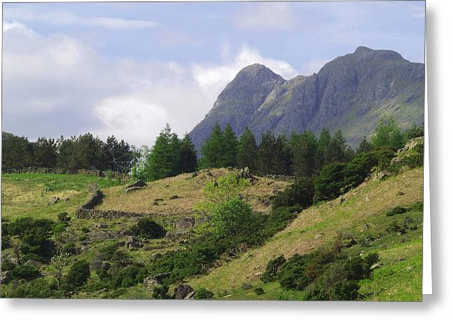Pike Of Stickle Greeting Cards - Langdale Pikes Greeting Card by Steve Watson
