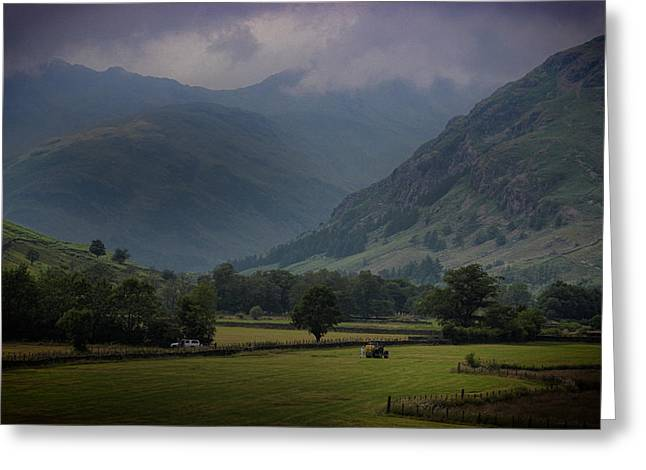 Langdale Valley Greeting Card by Martin Newman