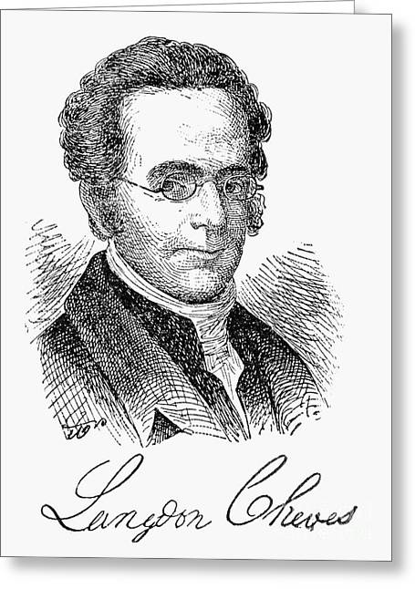Recently Sold -  - Engraving Greeting Cards - Langdon Cheves (1776-1857) Greeting Card by Granger