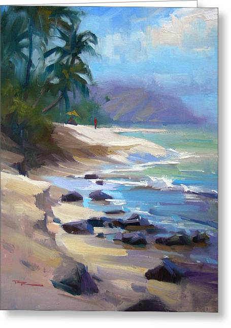 Beach Landscape Greeting Cards - Laniakea Greeting Card by Richard Robinson