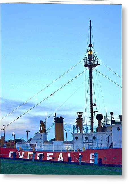 Kim Photographs Greeting Cards - Lantern of the Lightship Overfalls Greeting Card by Kim Bemis