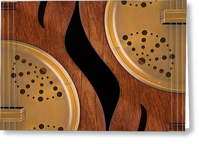 Hollow Greeting Cards - Lap Guitars        Greeting Card by Mike McGlothlen