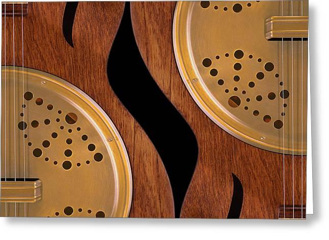 Lap Guitars        Greeting Card by Mike McGlothlen