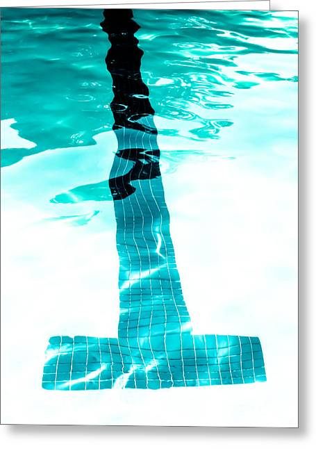 Swimmers Greeting Cards - Lap Lane - Swim Greeting Card by Colleen Kammerer