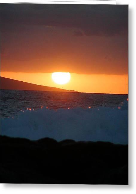 ; Maui Greeting Cards - Laparouse Sunset Greeting Card by Dustin K Ryan