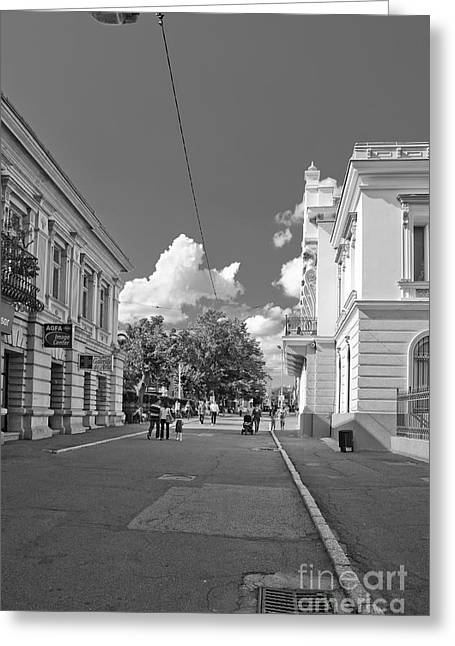Center City Greeting Cards - Lapusneanu street Greeting Card by Gabriela Insuratelu