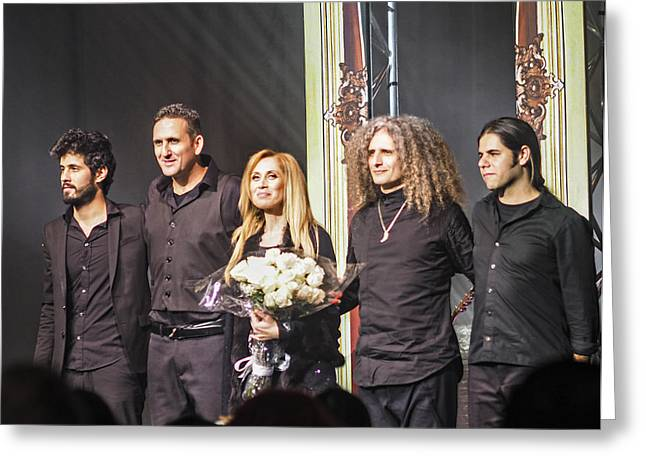Saban Theatre Greeting Cards - Lara Fabian and Crew at The Saban Greeting Card by Rebecca Dru