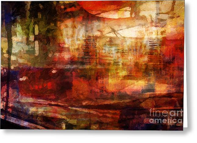 Abstract Expression Greeting Cards - Large Abstract Greeting Card by Lutz Baar