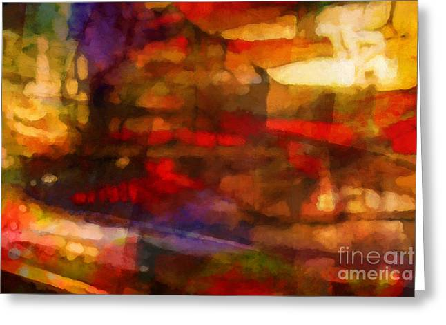 Abstract Expressions Greeting Cards - Large Drama Greeting Card by Lutz Baar