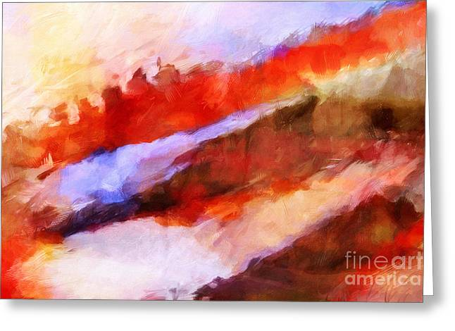 Abstract Expressions Greeting Cards - Large Motion Greeting Card by Lutz Baar