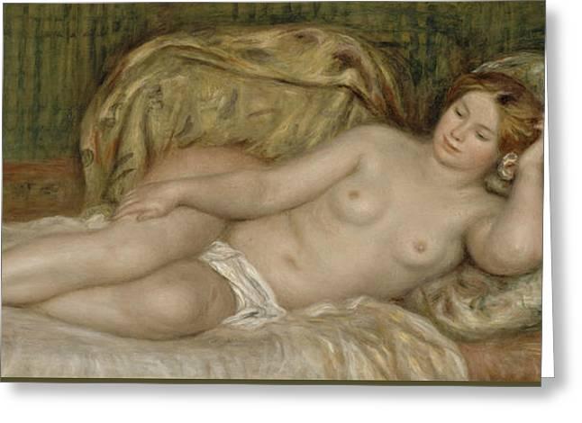 Renoir Greeting Cards - Large Nude Greeting Card by Auguste Renoir