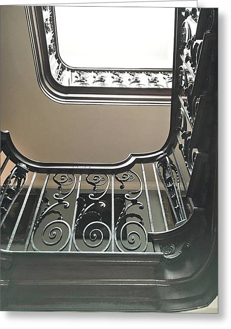 Large Staircase Greeting Card by Tom Gowanlock