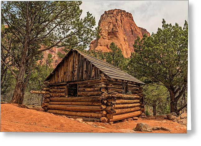 Larson Cabin In Zion Greeting Card by Loree Johnson