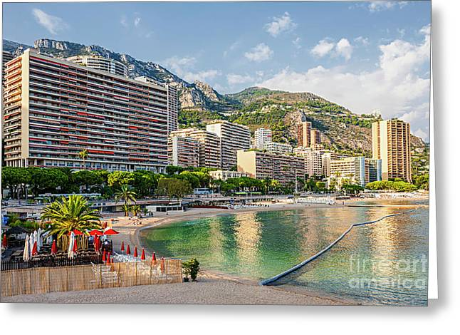 Larvotto Beach In Monaco Greeting Card by Elena Elisseeva