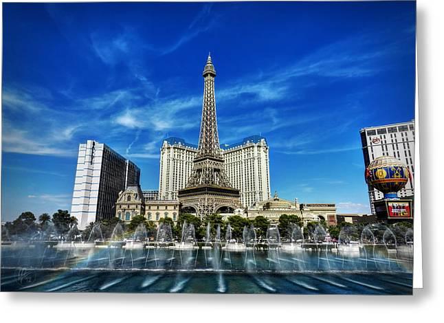 Las Vegas 016 Greeting Card by Lance Vaughn