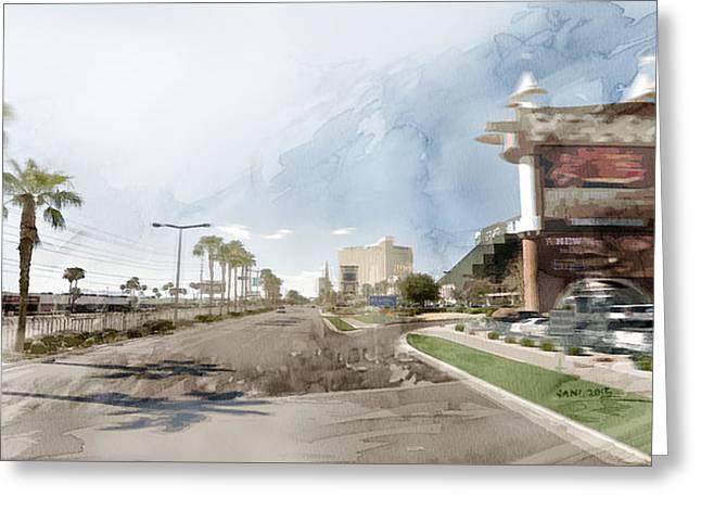 Ocean Art Photos Greeting Cards - Las Vegas 2 Greeting Card by Jani Heinonen
