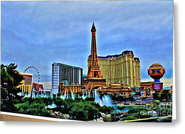 Wellspring Greeting Cards - Las Vegas Greeting Card by Beauty For God