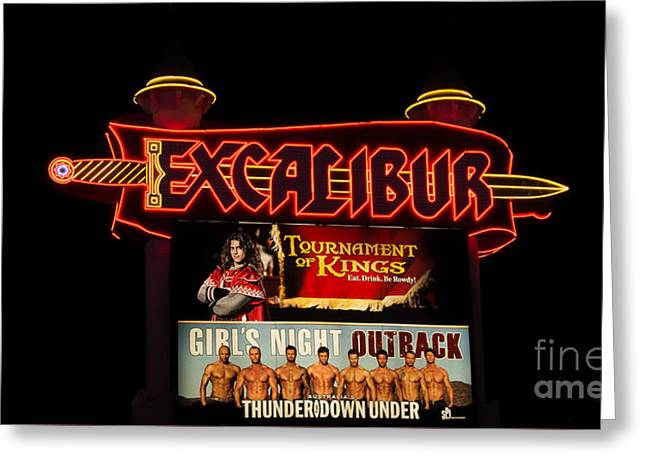 Playing Cards Greeting Cards - Las Vegas Excalibur Greeting Card by Super Jolly