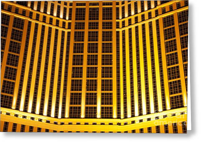 The Tourist Trade Greeting Cards - Las Vegas Gold 1 Greeting Card by Bob Christopher