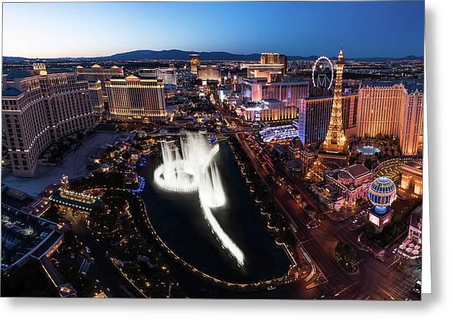 Las Vegas Lights Greeting Card by Steve Gadomski