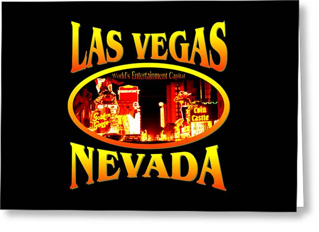 White Tapestries - Textiles Greeting Cards - Las Vegas Nevada Greeting Card by Peter Fine Art Gallery  - Paintings Photos Digital Art