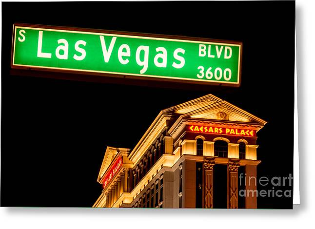 Playing Cards Greeting Cards - Las Vegas Caesars Palace Greeting Card by Super Jolly
