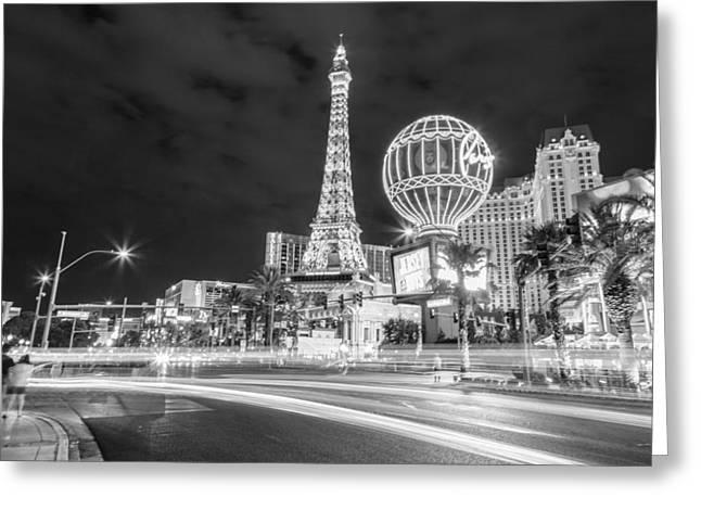 West Paris Greeting Cards - Las Vegas Streaks  Greeting Card by John McGraw