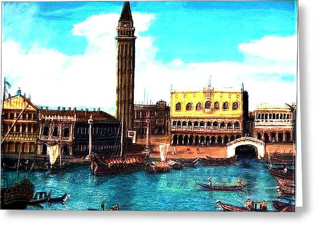 Wall Art For Your Home Or Office Greeting Cards - Las Venice Greeting Card by Larry E Lamb
