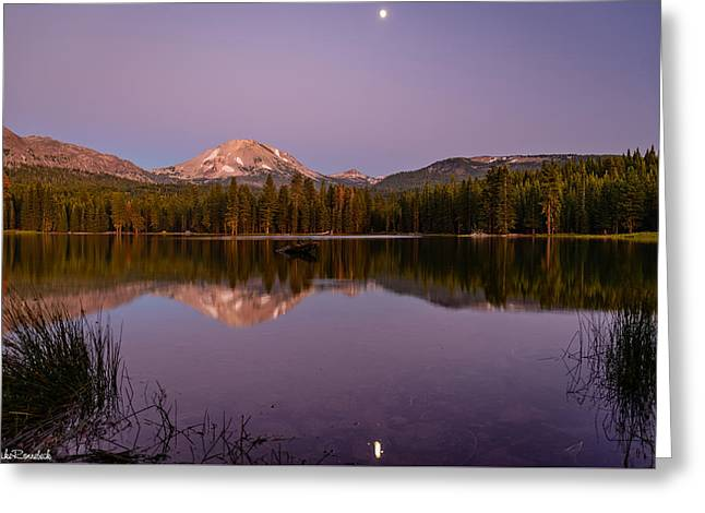 Lassen Peak Greeting Card by Mike Ronnebeck