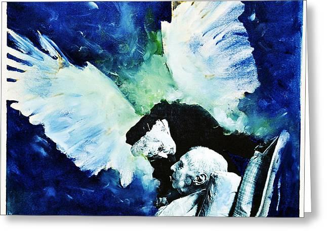 Angels Breath Greeting Cards - Last breath Greeting Card by Leonid Rozenberg