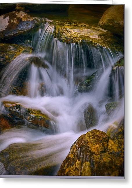 Water Flowing Greeting Cards - Last Cascade Greeting Card by Steven Maxx