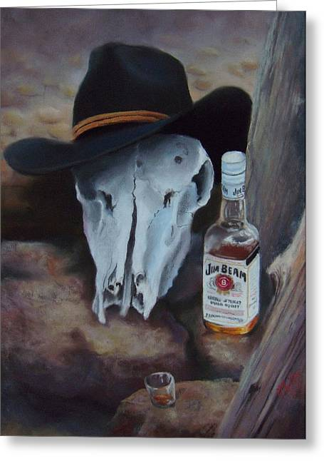 Bottled Pastels Greeting Cards - Last Chance Saloon or Jim Beams Guardian Spirit Greeting Card by Marcus Moller