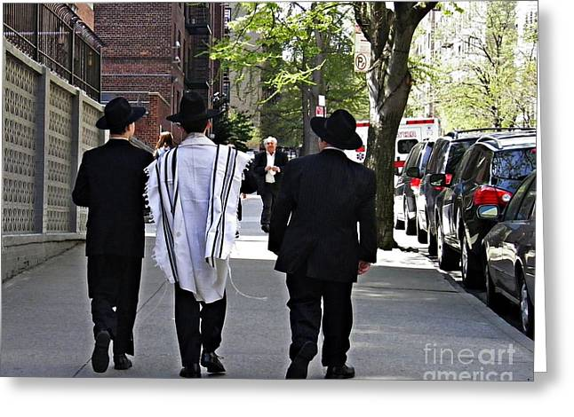 Prayer Shawl Greeting Cards - Last Day of Passover Greeting Card by Sarah Loft