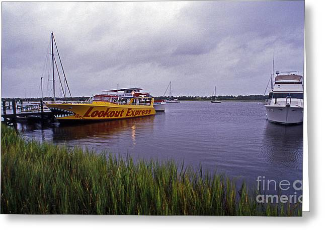 Table Greeting Cards - Last Ferry To Lookout Greeting Card by Skip Willits