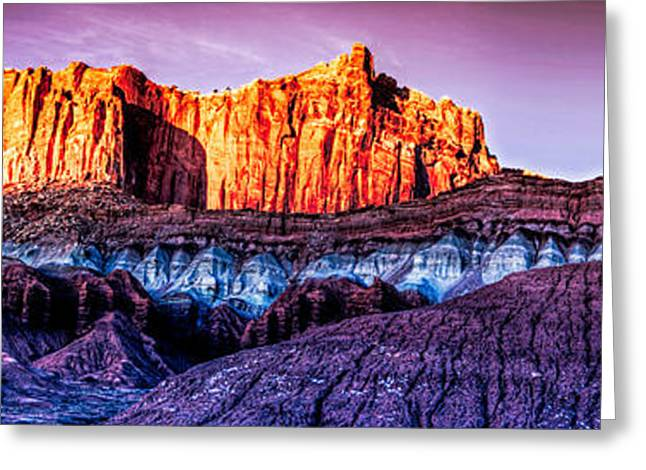 Southern Utah Greeting Cards - Last Light at Capitol Reef II Greeting Card by Irene Abdou