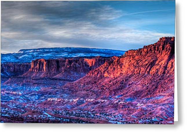 Southern Utah Greeting Cards - Last Light at Capitol Reef III Greeting Card by Irene Abdou