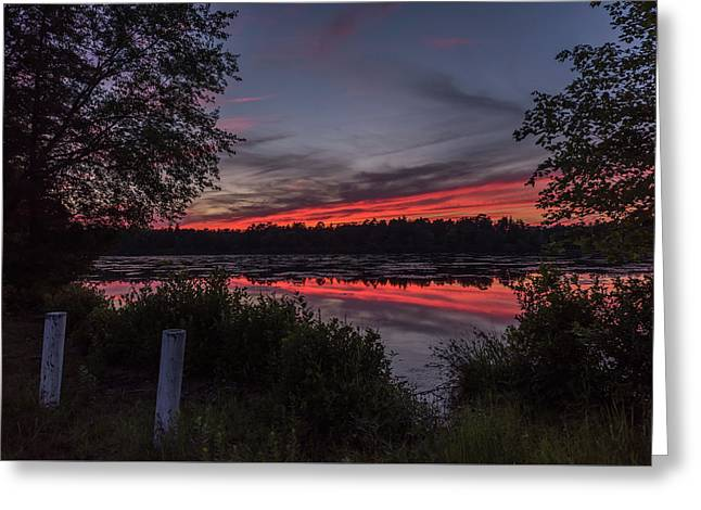 Last Light At Lake Horicon Nj Greeting Card by Terry DeLuco