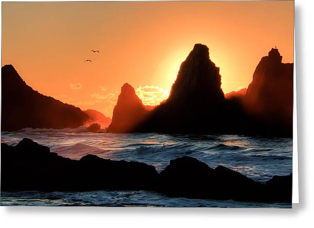 Monolith Greeting Cards - Last Light Greeting Card by Kristina Rinell