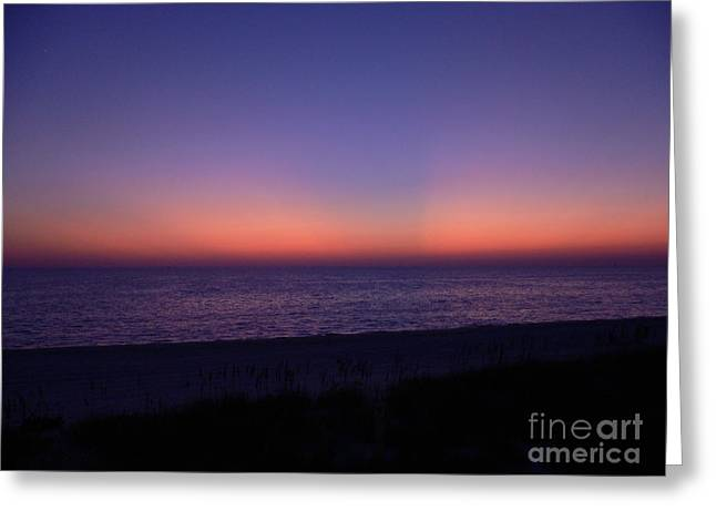 Beach Photos Greeting Cards - Last Light Greeting Card by Lowell Anderson