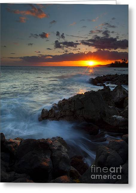 Poipu Greeting Cards - Last Light over Paradise Greeting Card by Mike  Dawson