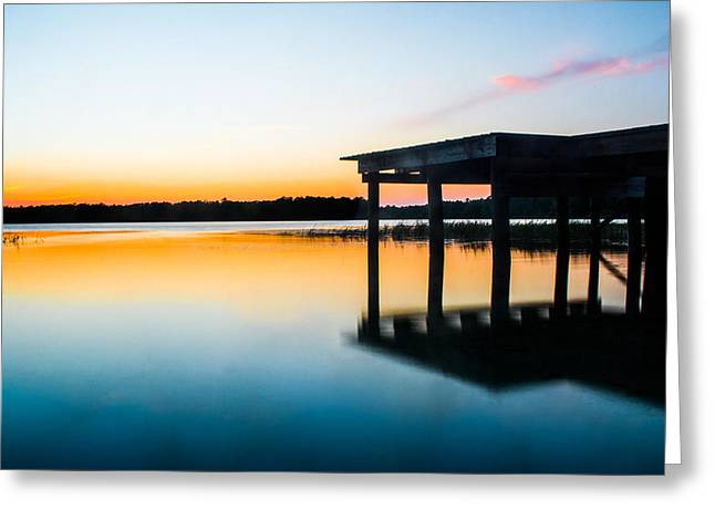 Lake House Greeting Cards - Last Light Greeting Card by Parker Cunningham
