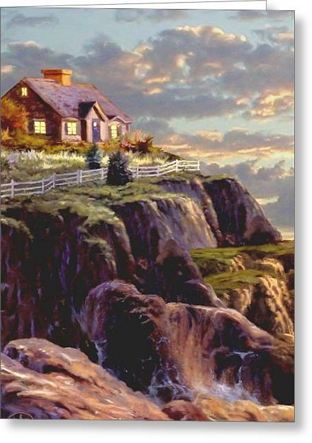 Last Light Segment 1 Greeting Card by Ron Chambers