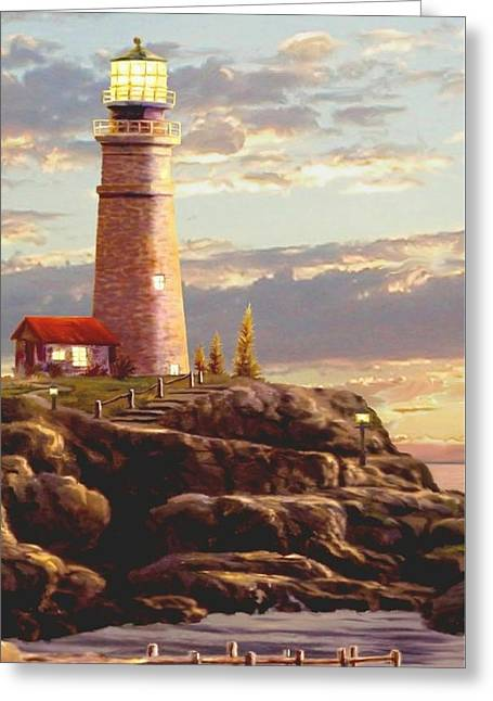Last Light Segment 2 Greeting Card by Ron Chambers