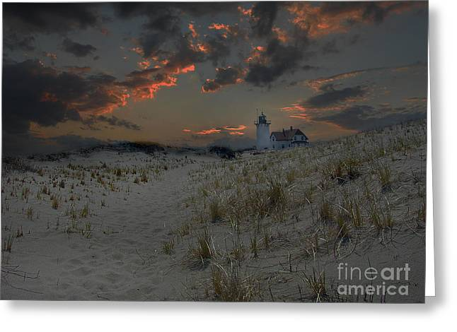 Ocean Art Photos Greeting Cards - Last Light Greeting Card by Skip Willits