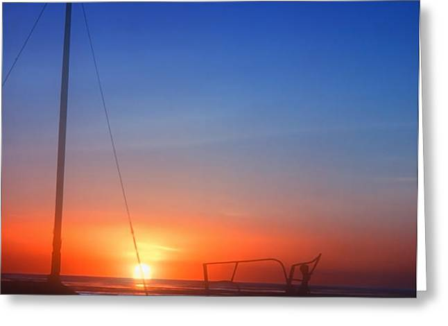 Last Light Greeting Card by Stephen Anderson