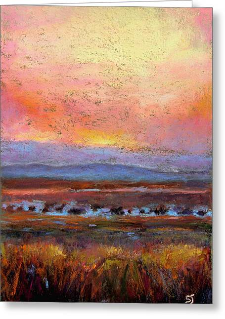 Dusk Pastels Greeting Cards - Last Light Greeting Card by Susan Jenkins
