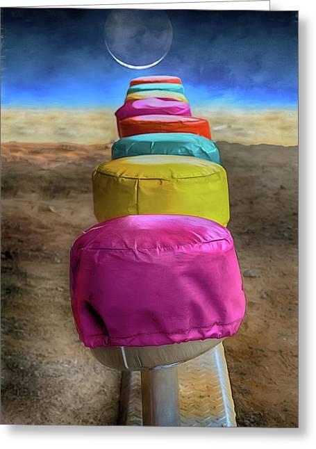 Last Lunch Counter On Mars Greeting Card by John Haldane