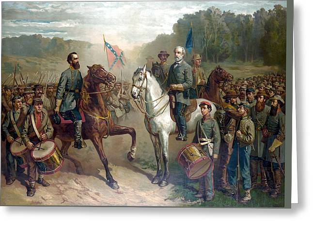 Civil War History Greeting Cards - Last Meeting Of Lee And Jackson Greeting Card by War Is Hell Store