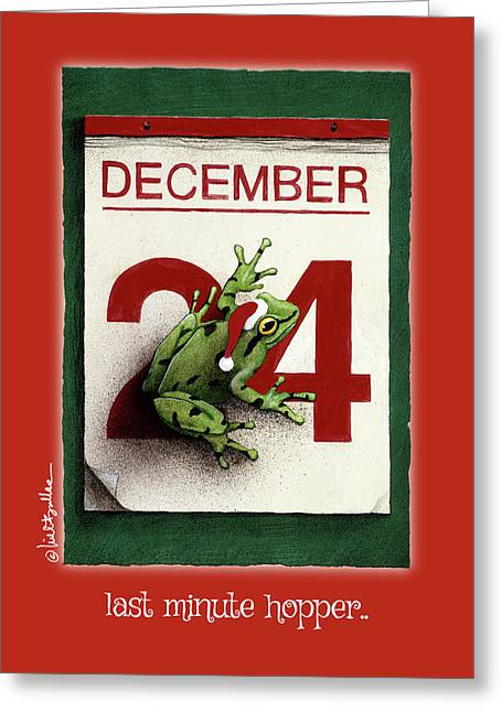 Last Minute Hopper... Greeting Card by Will Bullas