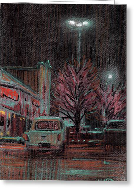 Plein Air Pastels Greeting Cards - Last Minute Shopping Greeting Card by Donald Maier
